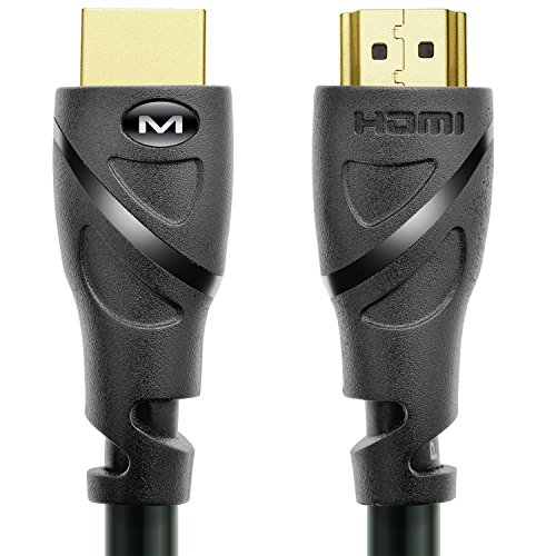 Mediabridge HDMI Cable (15 Feet) Supports 4K@60Hz, High Speed, Hand-Tested, HDMI 2.0 Ready - UHD, 18Gbps, Audio Return Channel