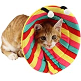 Bolbove Colorful Stripes Pet Soft & Stylish Cone R...