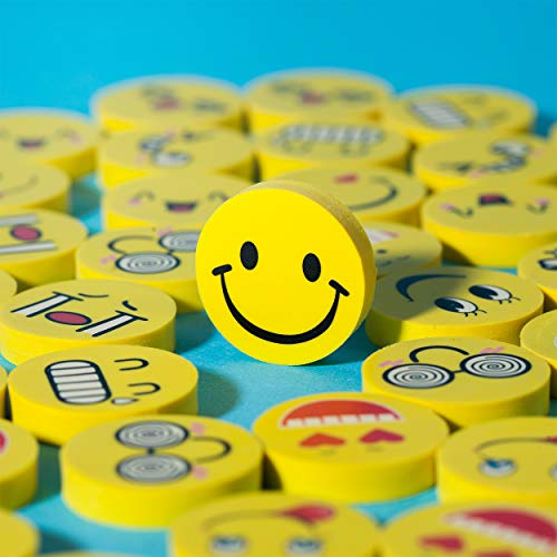 Mr. Pen- Erasers, Pack of 64, Emoji Eraser, Pencil Erasers, Erasers for Kids, School Supplies, Mini Eraser Pencil for Students, Fun Eraser, Cute Erasers, Eraser for School, Prizes for Kids Classroom Photo #7