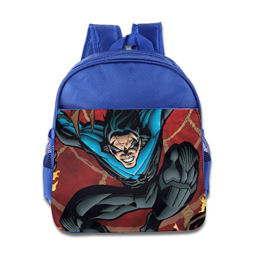 [Nightwing Character Little Kids School Backpack Bag RoyalBlue] (New 52 Nightwing Costume For Sale)