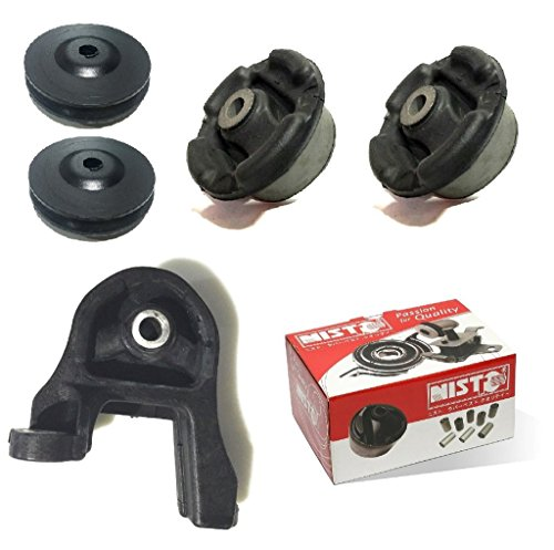 NISTO 5 Rear Differential Arm Mounting Bushing Top Support Repair Kit For 2001-2012 Honda (Arm Support Kit)