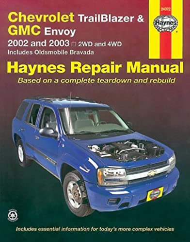 chevrolet trailblazer gmc envoy 2002 2003 haynes manuals rh amazon com 2003 trailblazer ls owners manual chevrolet trailblazer 2003 manual