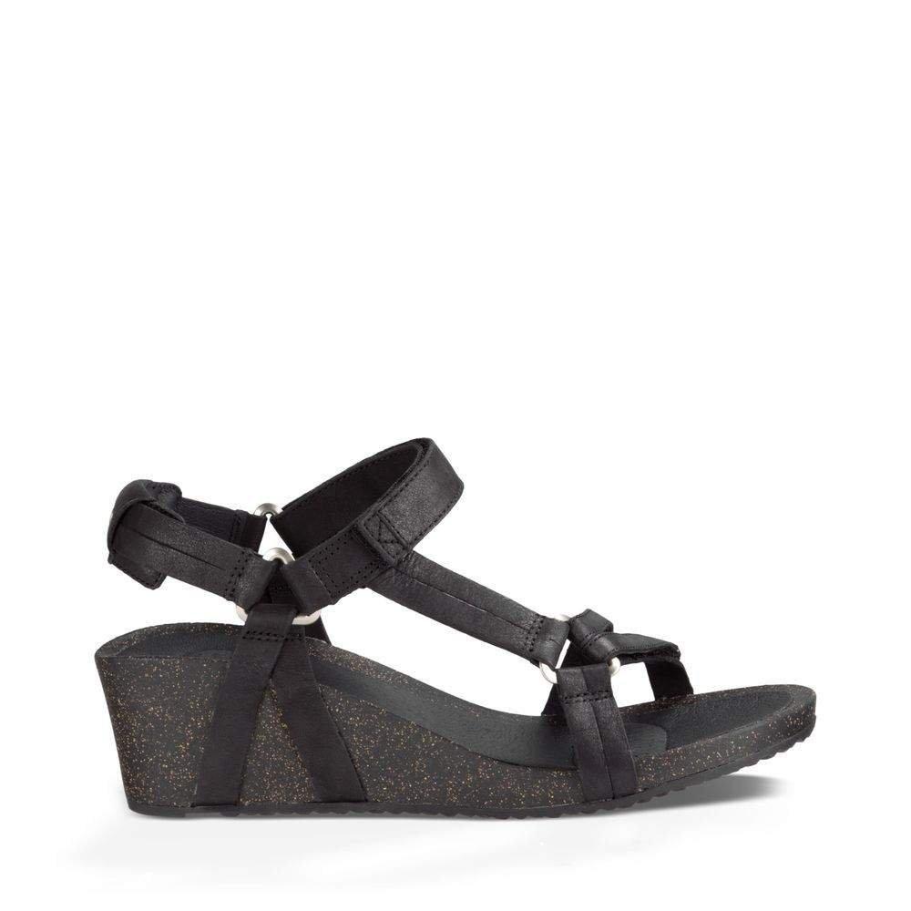Teva Women's W Ysidro Universal Wedge Sandal, Black, 9.5 M US