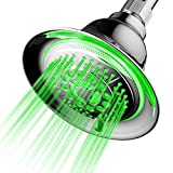 coolest rain shower heads DreamSpa All Chrome Water Temperature Controlled Color Changing 5-Setting LED Shower-Head by Top Brand Manufacturer! Color of LED lights changes automatically according to water temperature