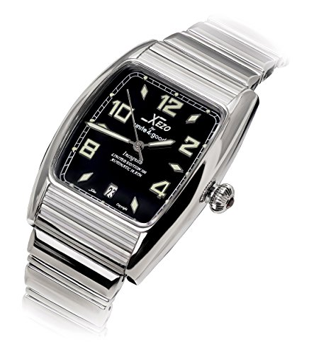 Xezo Incognito Men's 10 ATM Water Resistant Tonneau Watch. 9015 Miyota Automatic Movement. Luxurious Finish.  X-Large Wristband ()