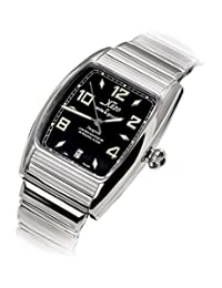 Xezo Incognito Men's 10 ATM Water Resistant Tonneau Watch. 9015 Miyota Automatic Movement. Luxurious Finish.  X-Large Wristband