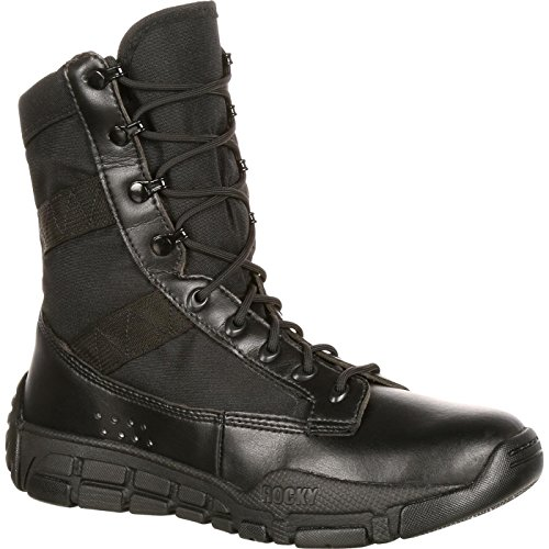 (Rocky Men's RY008 Military and Tactical Boot, Black, 10 M US)