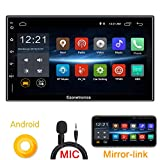 Ezonetronics Android 6 8 Double din Mirror Link Car Radio Stereo 7 inch Capacitive Touch Screen High Definition 1024x600 GPS Navigation USB SD Player 1G DDR3 + 16G NAND Memory Flash CT009L