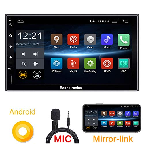 Ezonetronics Android 6 8 Car Radio Stereo 7 inch Capacitive Touch Screen High Definition 1024x600 GPS Navigation USB SD Player 1G DDR3 + 16G NAND Memory Flash CT009L (Usb Touch Screen Capacitive)