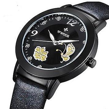 Bella relojes, wwoor de mujer reloj elegante reloj de moda reloj de pulsera cuarzo imitación diamante luminoso Piel bandafloreale colgante de, ...