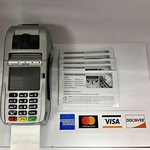 FD-130 Credit Card Terminal with 5 Cleaning Cards and Credit Card Logo Sticker by FIRST DATA (Image #4)