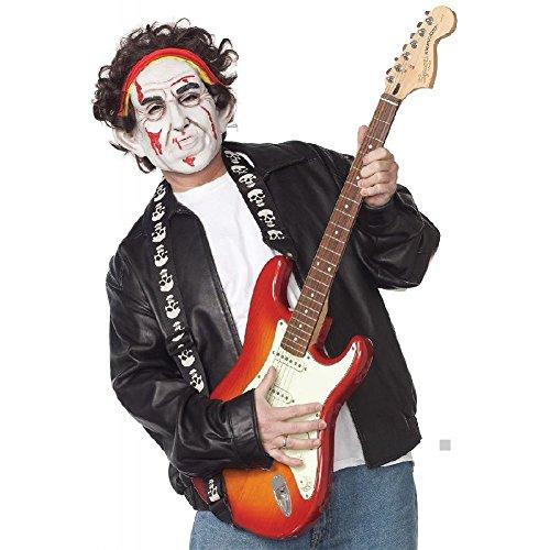 Rockstar Costume Mask Adult Zombie Celebrity Funny Halloween Fancy (Dead Rockstar Halloween Costumes)