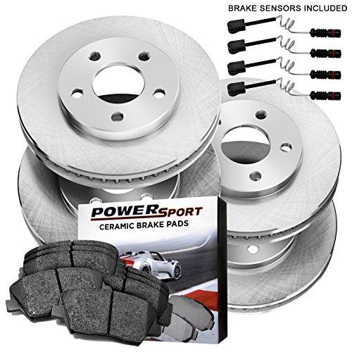 Mercedes Benz Sedan Brake Pad (Full Kit Replacement Brake Rotors and Ceramic Pads 2006-2009 Mercedes-Benz E350)