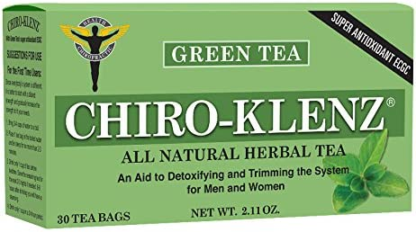 Chiro-Klenz with Green Tea -Antioxidant, Detox, Cleansing, Weight loss Tea- Relieve Constipation – All Natural