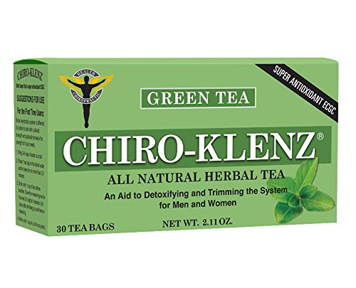 Chiro-Klenz with Green Tea -Antioxidant, Detox, Cleansing, Weight loss Tea- Relieve Constipation - All Natural