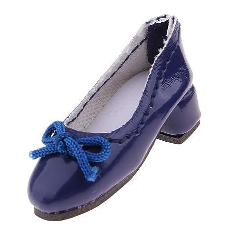Baoblaze Fashion Zapatillas de Talón de Cuero PUAlto Accesorios de Traje para Muñeca Blythe Escala 1