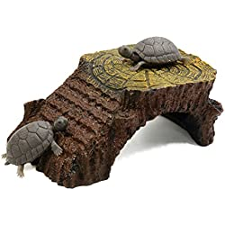 uxcell Resin Climb Ramp Habitat Hut Aquarium Landscape Decoration for Aquatic Tortoise