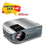 "HD Projector, 2018 Upgraded (+80% Brightness) Crenova 200"" 1080P HD Home Portable Video"