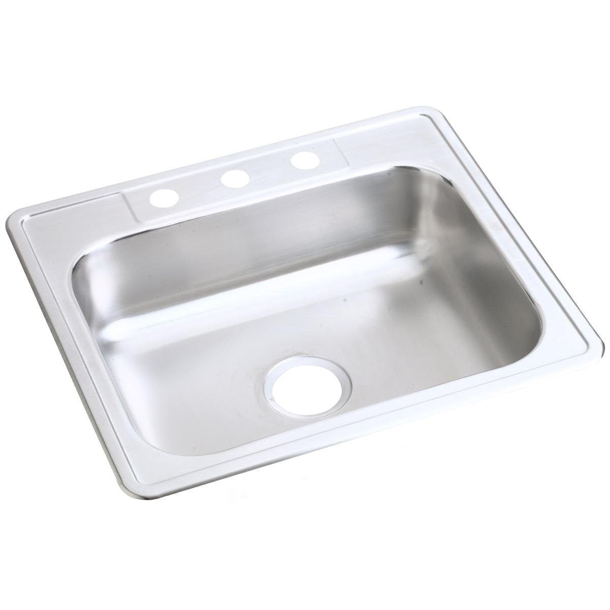 Dayton D125212 Single Bowl Drop-in Stainless Steel Sink