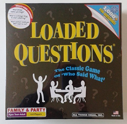 Loaded Questions: The Classic Game of 'Who Said What' by All Things Equal, Inc. ()