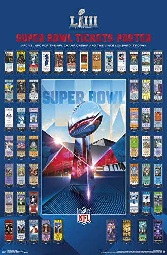 Super Bowl Ticket Poster - Trends International Super Bowl LIII - Tickets Wall Poster 22.375