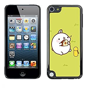 PC/Aluminum Funda Carcasa protectora para Apple iPod Touch 5 Cute Fat Pig / JUSTGO PHONE PROTECTOR