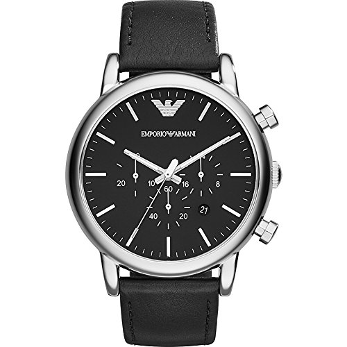 Emporio Armani Men's AR1828 Dress Black Leather Watch by Emporio Armani