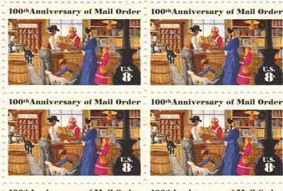 Amazon Com 100th Anniversary Of Mail Order Set Of 4 X 8 Cent Us