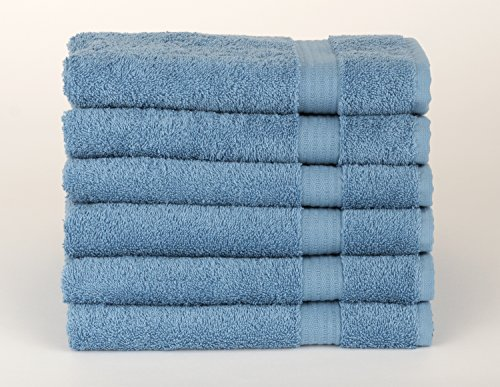 TowelSelections Sunshine Collection Soft Towels 100% Turkish Cotton 6 Hand Towels Allure Blue