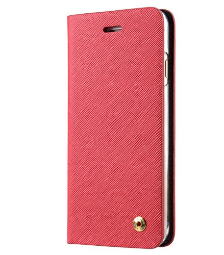 Melkco Fashion Cocktail Series slim Flip Case for Apple iPhone 7(4.7')(Fluorescent Red)_LF2231