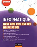 Informatique - MPSI, PCSI, PTSI, TSI, TPC, MP, PC, PT, PSI