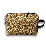 pretzel wheat beer - Pretzels Food Make-up Travel Bag For Women Cosmetic Bag Accessory Case High Elasticity