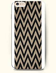 SevenArc Aztec Indian Chevron Zigzag Pattern Hard Case for Apple iPhone 6 Plus 5.5' (2014) ( Black And Brown Chevron...