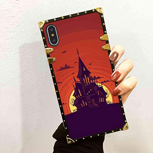 Haunted Manor Square Phone Case Fit iPhone Xs Max (2018)