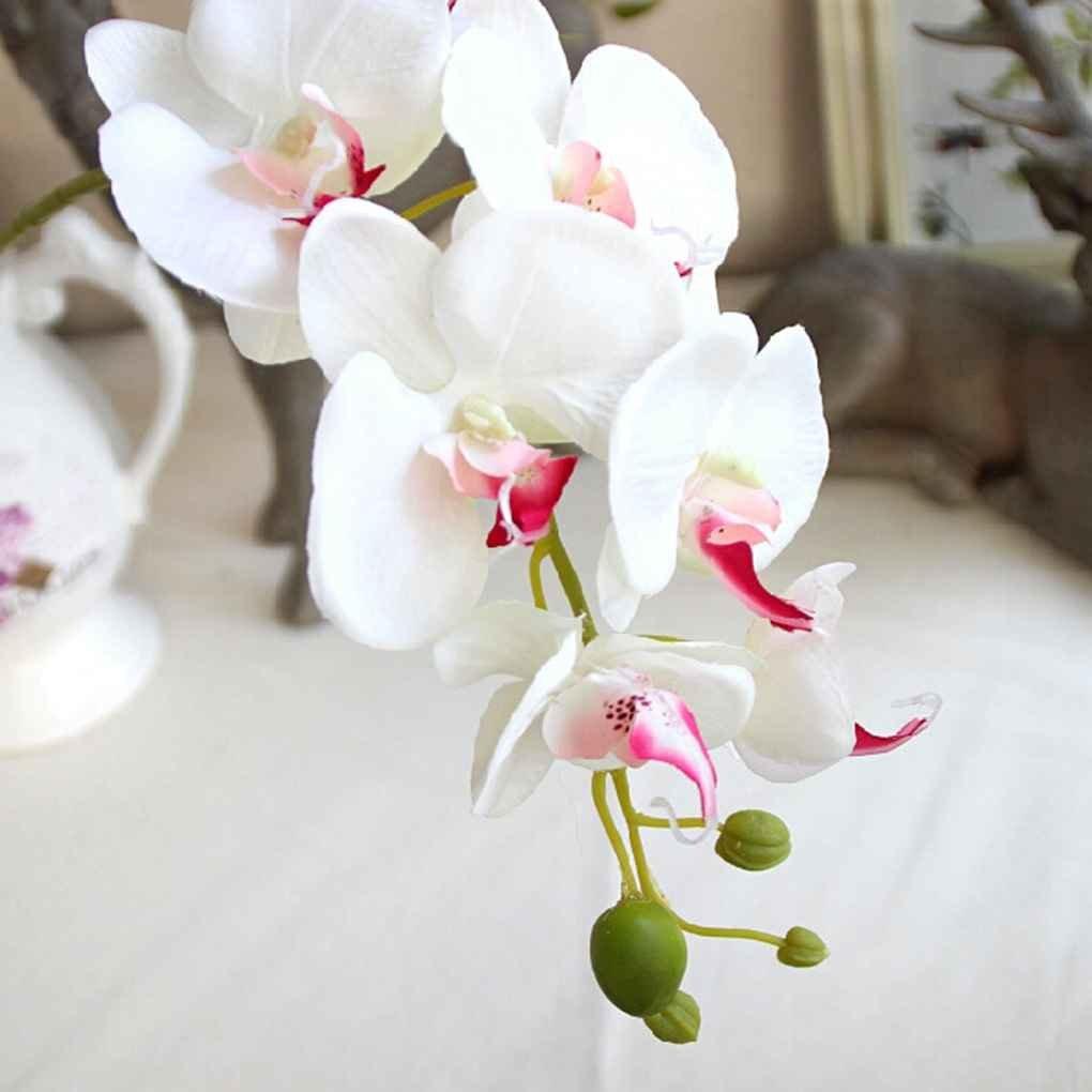 Lidahaotin Soie artificielle Orchidée Phalaenopsis Fleur Stem Party Bouquet jardin Décor