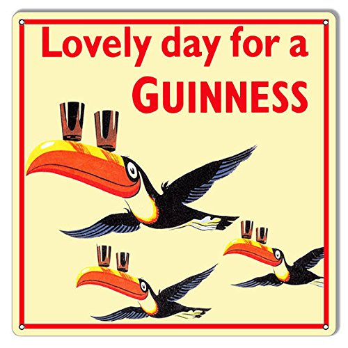 - Susie85Electra Bar Beer Signs Lovely Day For A Guinness 12 X 12 Aluminum Beer Bar Art Sign