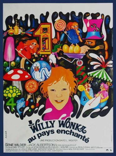 Willy Wonka and the Chocolate Factory POSTER Movie (11 x 17 Inches - 28cm x 44cm) (1971) (French Style B)