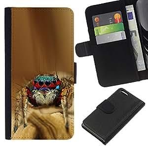 eJoy---La carpeta del tirón la caja de cuero de alta calidad de la PU Caso protector - Apple iPhone 5C - --Cool Spyder Bro