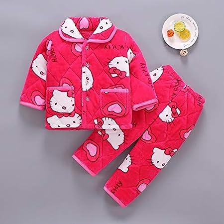 EETYRSD El otoño y el Invierno Pijamas for niños, Engrosamiento de ...