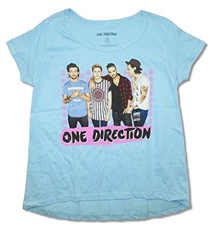One Direction Dotz Band Image Girl's Juniors T Shirt (XL) (1 Direction Tour Shirt)