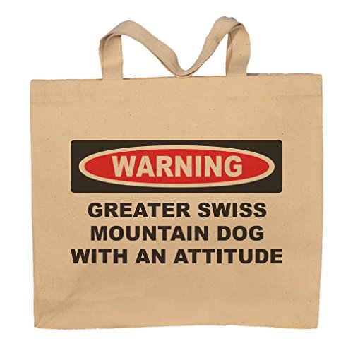 Greater Swiss Mountain Dog With An Attitude Totebag Bag by T-ShirtFrenzy