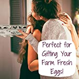 25 Egg Cartons- Adorable Printed Vintage Design for Farm Fresh Eggs, Recycled Paper Cardboard, Sturdy & Reusable, Carton Holds up to XL Chicken Eggs