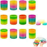 Rainbow Magic Spring,  Rainbow Spring Slinky Toy Circles Slinky Rainbow for Children Toys Party Favors,12 PCS