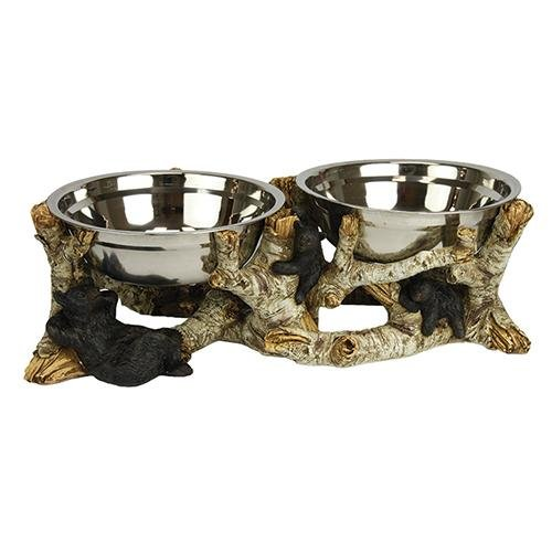 River's Edge Birch Bark Bear Dog Bowl Set Review