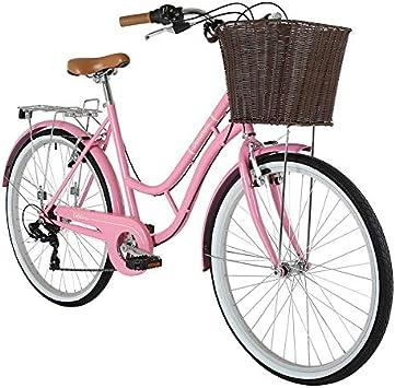 Barracuda - Bicicleta Vintage con Cesta para Mujer (Ruedas de 26 ...