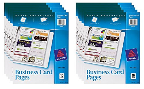 Amazon avery business card pages pack of 10 76009 amazon avery business card pages pack of 10 76009 business card sleeves office products colourmoves Choice Image