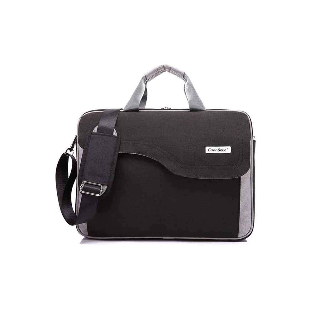 QSJY File Cabinets 15.6 Inch/17 Inch/17.3 Inch Handbag with Shoulder Slanting Gamebook Computer Package (Color : Black, Size : 42×31×7CM) by QSJY File Cabinets