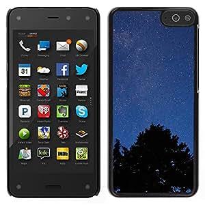 El cielo y el bosque - Metal de aluminio y de plástico duro Caja del teléfono - Negro - Amazon Fire Phone