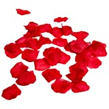 Red Silk Flower Artificial Rose petals for Wedding Aisle, Party Favor & Table, Vase, Home Decoration by Royal Imports, 1000 PCS