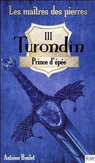 Les maîtres des pierres, tome 3 : Turondin, Prince d'épée par Antoine Boulet